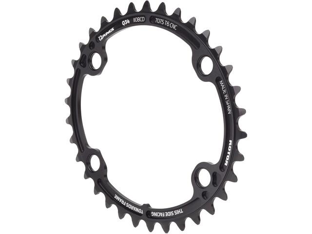 Rotor Ovaal Kettingblad voor ALDHU/Shimano, black